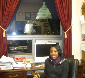 Me at Congressman Miller's desk