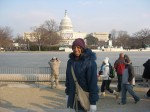 Me in front of the capital