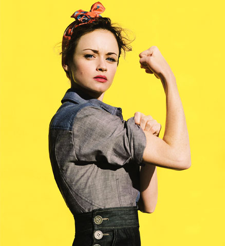 Alexis Bledel as Rosie the Riveter